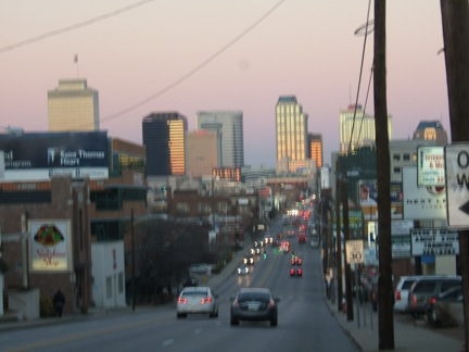 Nashville at dusk, from Church St.
