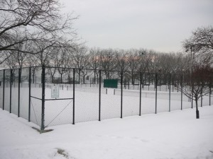 Tennis Court in Grant Park