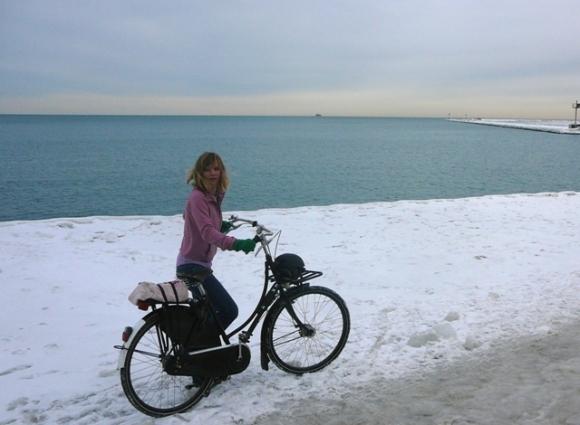 Lake Michigan on a Warm Winter Day