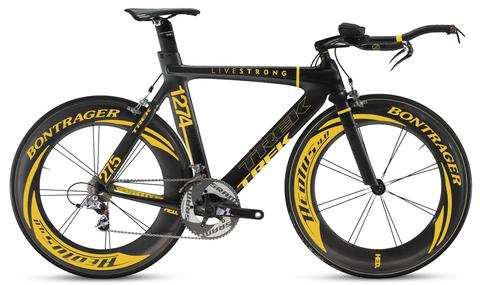 Lance Armstong's time trial bike was stolen from his team's trailer