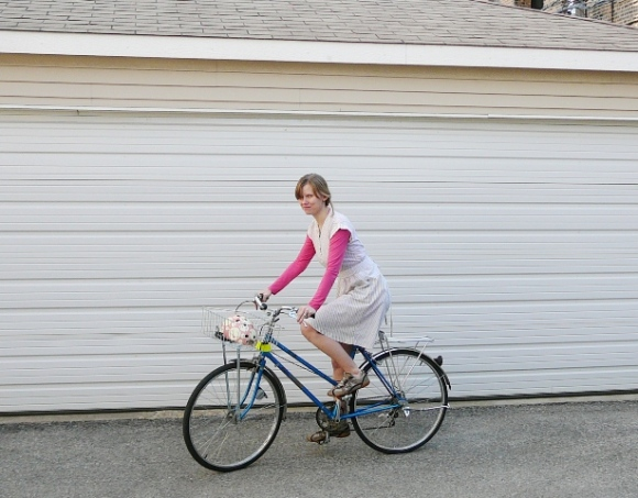 Riding Smurfette