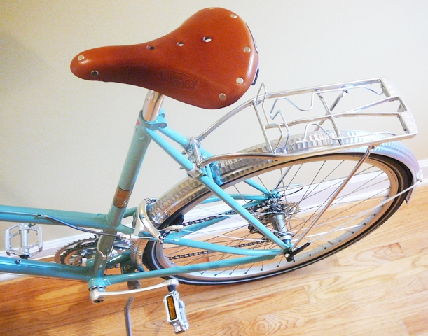 Brooks saddle and Plescher rack