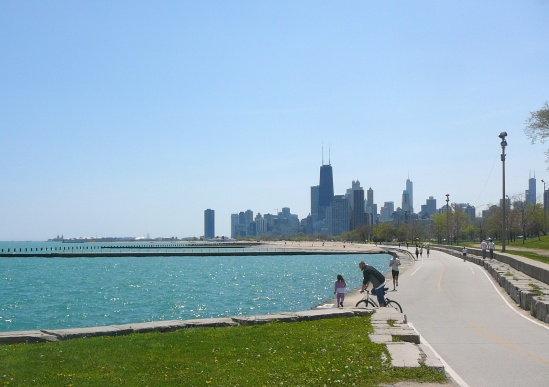 Chicago Skyline from Lakefront Trail