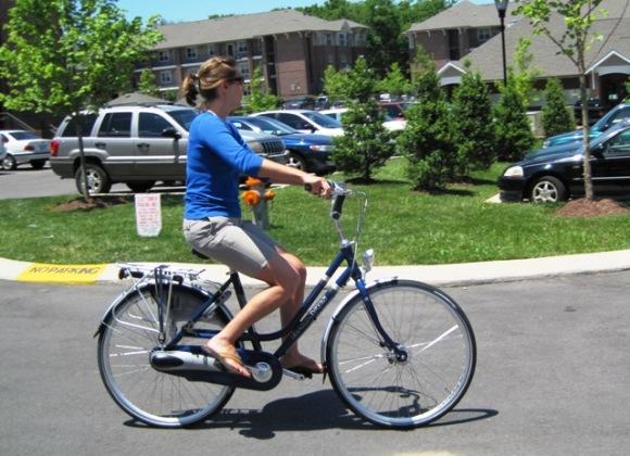 Kristi Rides A Bike