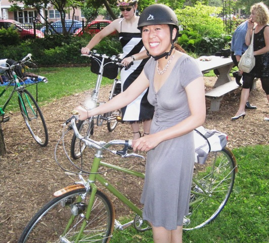 Elaine and her sweet custom Soma mixte