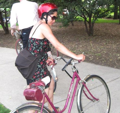 Red bike and helmet