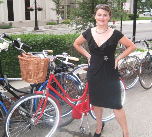 Me on the June Chicago Cocktail ride we co-organized with John Greenfield