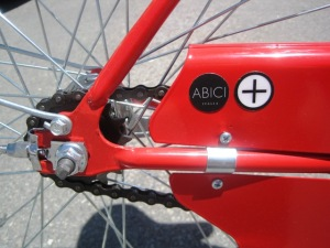 The only place on the bike with an Abici logo.