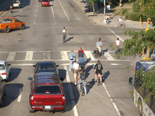 Bike Lane, Madison, WI )from PBIC Image Library)