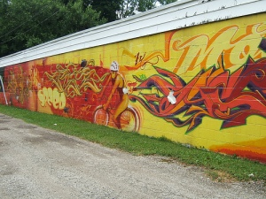 Murals like these decorated the trail.