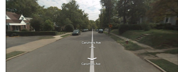 Caruthers Ave., courtesy of Google Maps