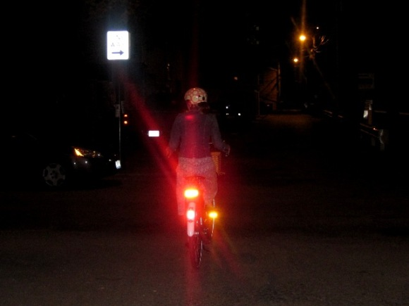 Night Riding (note this is a pic from last week, I was on Betty not Oma)