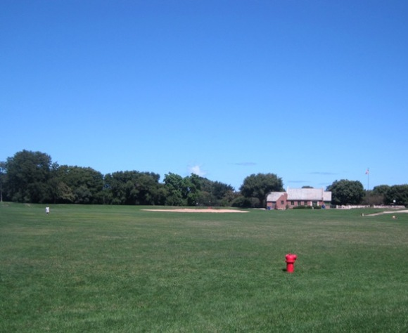Public baseball diamond