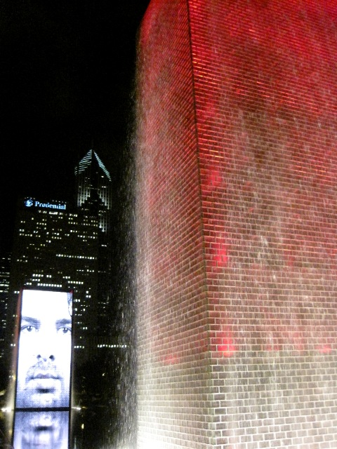 Fountains in Millenium Park