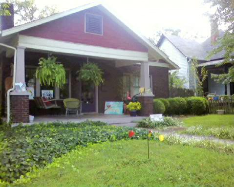 Artsy front porch
