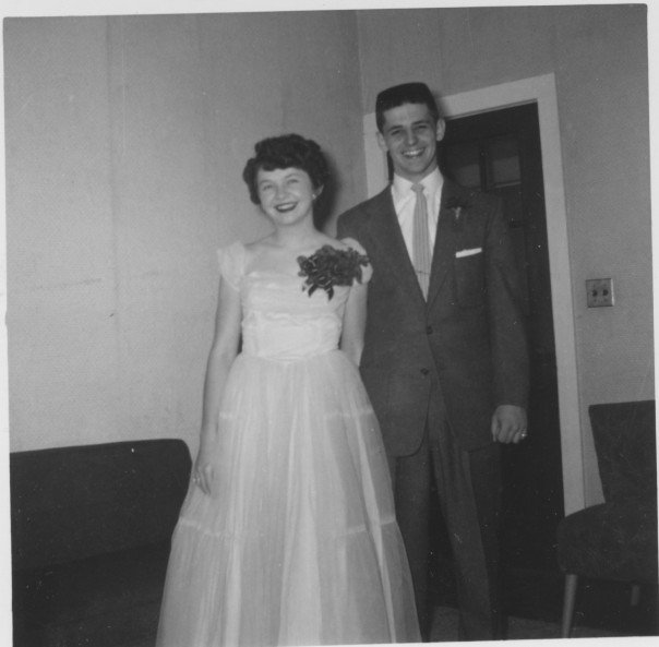 My grandparents before their prom. High school sweethearts who celebrated their 50th anniversary in 2006.