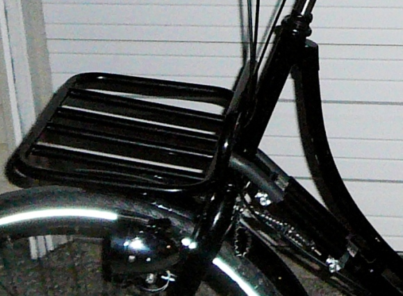 Front Rack attached to frame