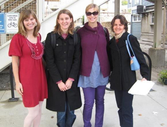 Dottie, Missy, Elisa, Elizabeth (thanks to Trisha for my dress!)