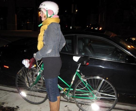 Ms Elle and her vintage bike, Cilantro