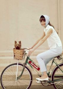 Audrey Hepburn Bicycle 3