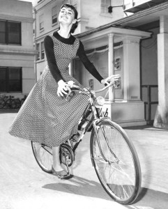 Audrey Hepburn Bicycle