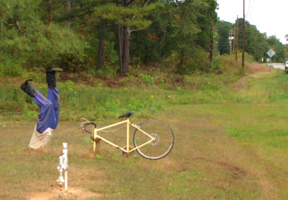 Bike art near Guntersville, Alabama