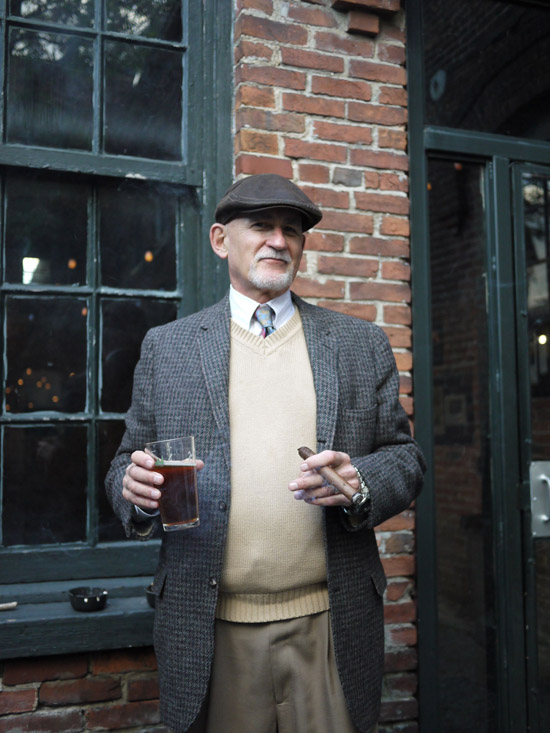 John and his cigar: the ultimate tweed ride accessory! (Photo by Sten)