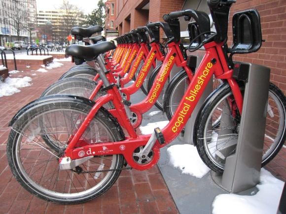 Last year's snowy Capital Bikeshare
